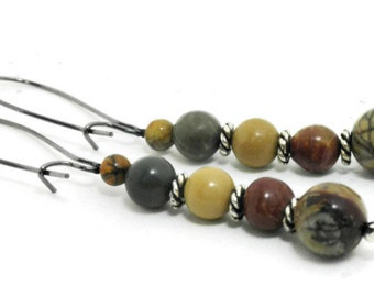 Picasso Jasper Dangle Earrings