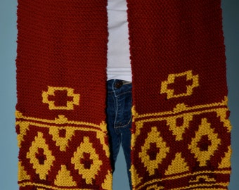 Hand Knit Journey Inspired Scarf