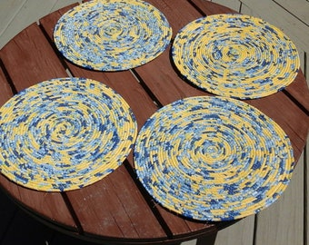 Wrapped rope placemats (4)