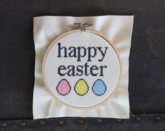 Happy Easter cross stitch pattern only (not finished product)