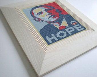 Obama Cross Stitch Pattern