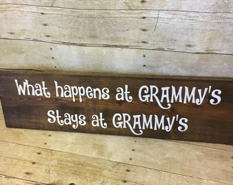 What Happens At Grammy's Stays At Grammy's - Gift for Grandma - Mother' Day Gift - Christmas Gift for Grandma