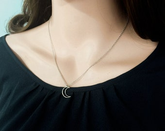 Crescent Moon Necklace Simple Daily Necklace