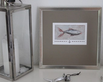 Art print 'Fish with anchor'