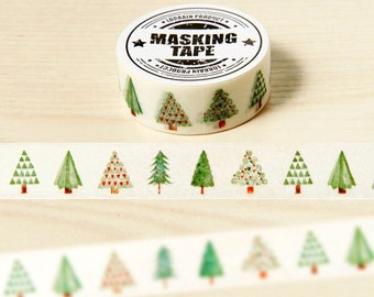 Tree Washi Tape | 15mm x 10Metres | Colour Assorted Washi Tape  | Pretty Washi Tape