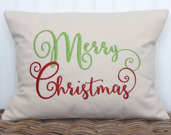 Christmas Pillow, Merry Christmas pillow, Christmas Decor, Decorative Pillow, Holiday Decor