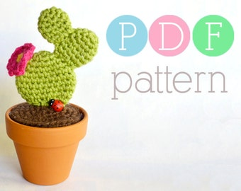 Amigurumi Cactus - Crochet Prickly Pear PDF Pattern