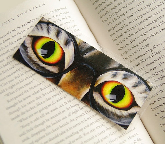 Harry Cat Wearing Glasses Bookmark