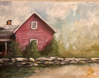 Red House - 18 x 24