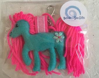 Handmade Felt Unicorn keyring