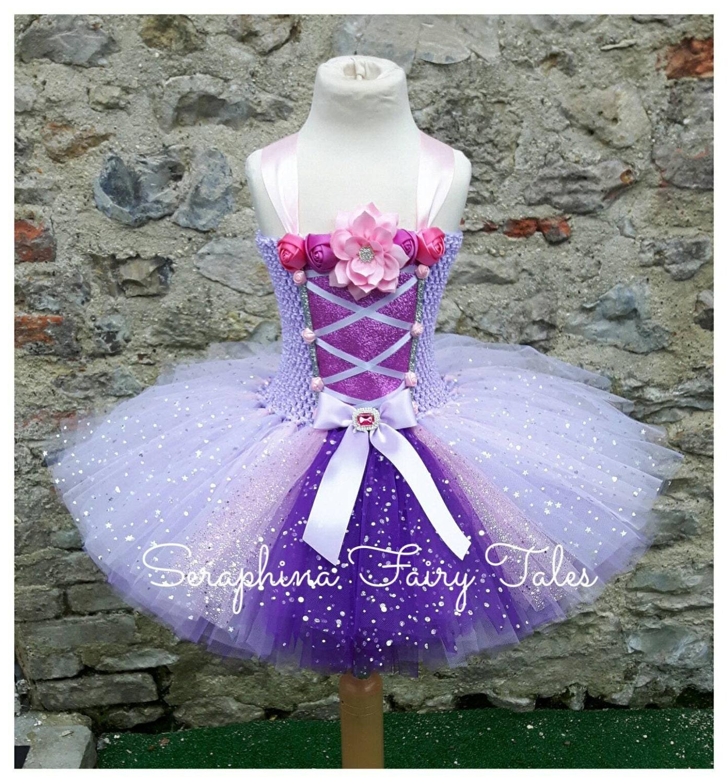 Prinzessin Tutu Kleid. Rosa & lila Blumen Korsett vorne Kleid
