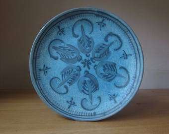 Pottery long Oberammergau/Anton Lang-Decorative plate with hand-painted décor