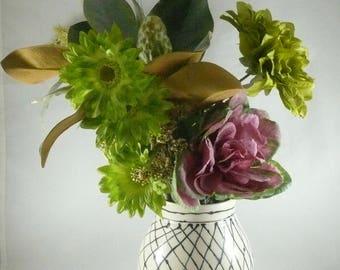 Decorative ceramic vase, wheel thrown art vessel, Gift for Her, Mother's Day Gift, Kitchen Utensil Holder, Ceramics and Pottery, Artistic