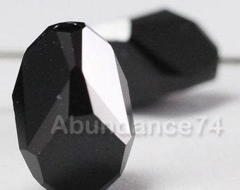 4 pcs Swarovski Elements - Swarovski Crystal 5650 12mm CUBIST - JET