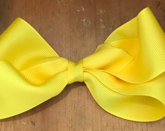 """Yellow 4"""" boutique Bow"""