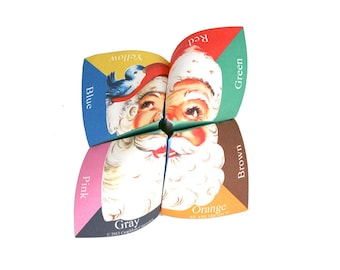Digital Christmas cootie catcher / fortune teller / game / DIY toy / downloadable / printable /stocking stuffer