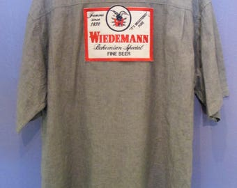 Men's Wiedemann Button-down Beer Shirt Size XL