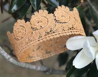 TE FITI CROWN , full size crown, island princess, princess crown, crown, lace crown