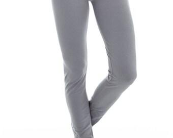 Womens Yoga Pants - Cotton Long Leggings - 'Dvadasa' Yoga Pants - Yoga Clothes Leggings