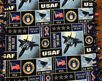 Air Force Fleece Tie Blanket