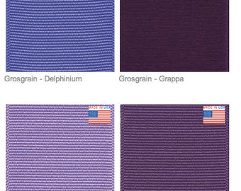 """1.5"""" PURPLE GROSGRAIN - Select Shade of Purple - Offray - Made in USA"""
