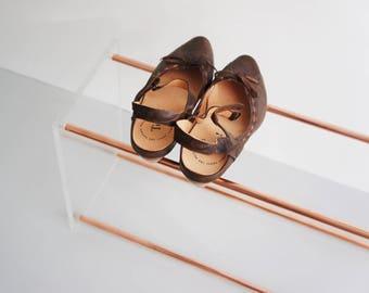 Copper & Glass - Shoe Rack