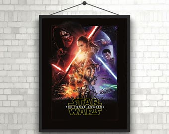 Star Wars Episode VII the force awakens official cover poster