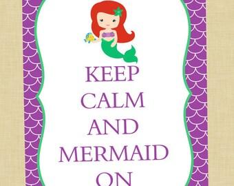 Ariel Keep Calm Art