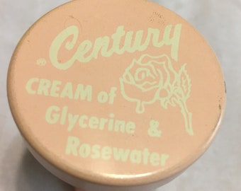 Vintage early plastic Century glycerine and rosewater cream pot
