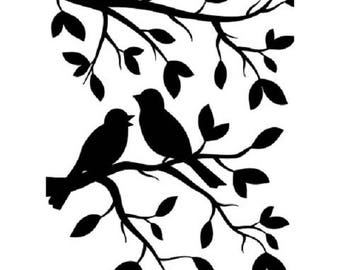 Darice® Embossing Folder - Birds on Branch - 4.25 x 5.75 inches -- fits most machines
