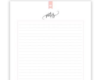Notes List, Notes printable, INSTANT DOWNLOAD