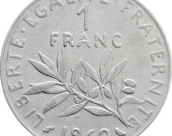 1960 One Franc France Coin