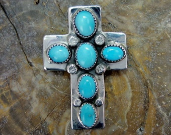 Sterling Silver Sleeping Beauty Turquoise Pendant, P0132