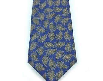 Golden Leaf 100% Silk Mens Tie