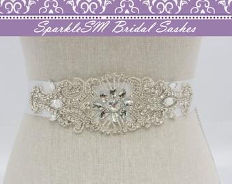Rhinestone Belt, Crystal Bridal Sash, Beaded Belts, Bridal Sash, Wedding Sash, Bridesmaids Sashes, Bridal Sash Belts, Wedding Dress Sash