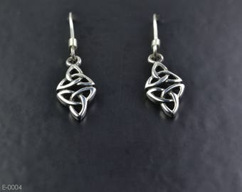 Celtic Design Sterling Silver Earrings with Trinity Knots