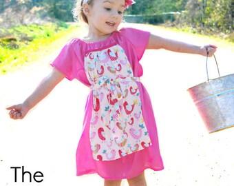 Peasant Dress Pattern -- Milkmaid Peasant Dress -- 0m - 12 girls PDF Instant
