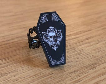 Ornate Coffin Ring
