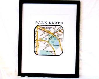 Park Slope Brooklyn Travel Print NYC Subway Map Digital Wall Art NYC Subway Print Park Slope Brooklyn Instant Download