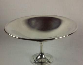 Silver Plated Compote, Pedestal Bowl, Wm A Rogers Silver Plated Pedestal Fruit Bowl