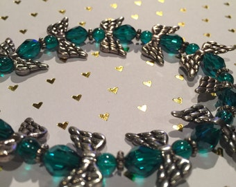 Emerald Angel Sparkle Bracelet