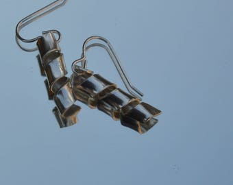 Sterling silver curly earrings