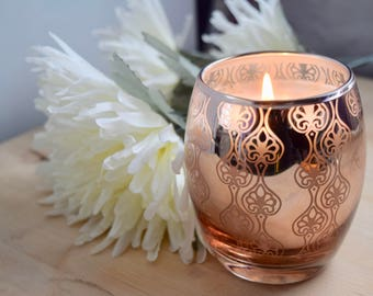 Copper Glass Votive Handmade Soy Candle