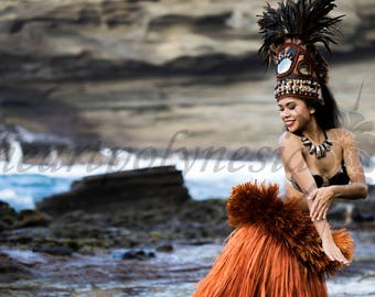 Full Tahitian dance Otea woman or girls costume HALIA