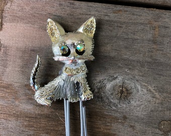 Sparkly eye Cat paperclip