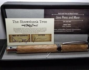 Vertex style pen made from the Shawshank  Tree