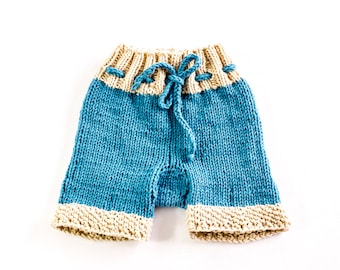 KNITTING PATTERN,  Designer Baby Shorts, Baby Pants, Trousers, In 5 Sizes, Drawstring Baby Pants,  Shorts
