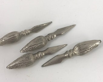 Set of 4 Vintage Silver Plated Corn on the Cob Holders
