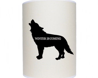 lamp shade/ ceiling light/ pendant light/ Game of thrones/ winter is coming/ drum lampshade/ lighting/ wolf