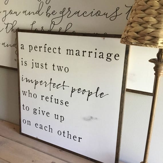 A PERFECT MARRIAGE 2'X2' | distressed painted wall plaque | shabby chic farmhouse decor | framed wall art | master bedroom decor